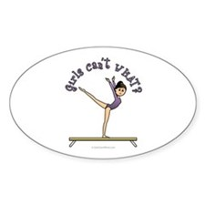 Light Gymnastics Oval Decal
