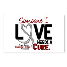 Needs A Cure 2 PARKINSONS Rectangle Decal