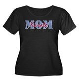 Karate Mom Women's Plus Size Scoop Neck Dark T-Shi