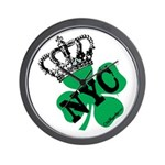 NYC Pubcrawl St. Patricks Day Wall Clock