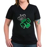 NYC Pubcrawl St. Patricks Day Women's V-Neck Dark