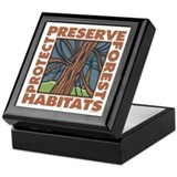 Preserve Forest Habitats Keepsake Box