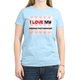 I Love My Wedding Photographer T-Shirt