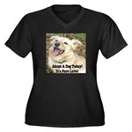 Adopt A Dog Today! Women's Plus Size V-Neck Dark T