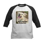 Adopt A Dog Today! Kids Baseball Jersey