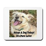 Adopt A Dog Today! Mousepad