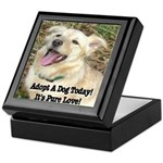 Adopt A Dog Today! Keepsake Box
