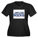 jaylee rocks Women's Plus Size V-Neck Dark T-Shirt