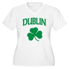 Dublin Irish Women's Plus Size V-Neck T-Shirt