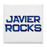 javier rocks Tile Coaster