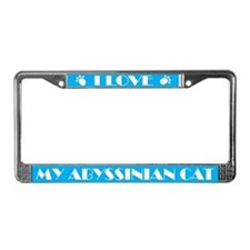 I Love My Abyssinian Cat License Frame