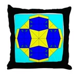 Blue Owls Amulet Throw Pillow