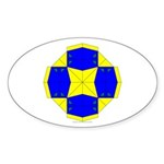 Blue Owls Amulet Oval Sticker (50 pk)