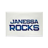 janessa rocks Rectangle Magnet (10 pack)