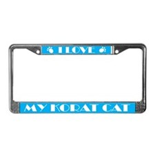 I Love My Korat Cat License Plate Frame