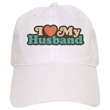 I Love My Husband Baseball Cap