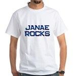 janae rocks White T-Shirt