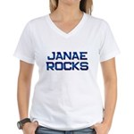 janae rocks Women's V-Neck T-Shirt