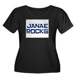 janae rocks Women's Plus Size Scoop Neck Dark T-Sh
