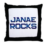 janae rocks Throw Pillow