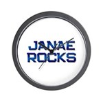 janae rocks Wall Clock