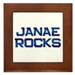 janae rocks Framed Tile