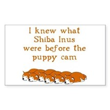 Shiba Puppy Cam Rectangle Decal