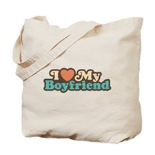 I Love My Boyfriend Tote Bag