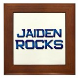 jaiden rocks Framed Tile