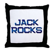 jack rocks Throw Pillow