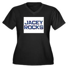 jacey rocks Women's Plus Size V-Neck Dark T-Shirt