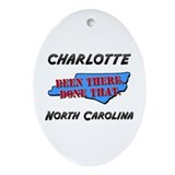 Charlotte north carolina Oval Ornaments