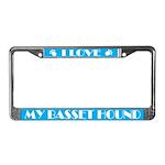 I Love My Basset Hound License Frame