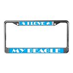 I Love My Beagle License Plate Frame
