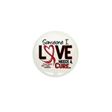 Needs A Cure 2 HIV AIDS Mini Button (100 pack)