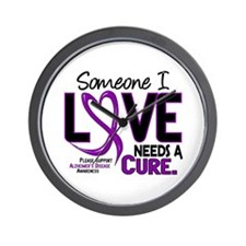 Needs A Cure 2 ALZHEIMERS Wall Clock