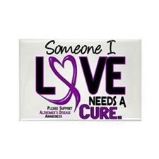 Needs A Cure 2 ALZHEIMERS Rectangle Magnet (100 pa
