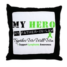 LymphomaHeroFather-in-Law Throw Pillow