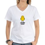 Caving Chick Women's V-Neck T-Shirt