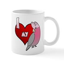 Love Galah Cockatoo Small Mug