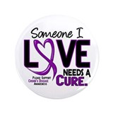 "Needs A Cure 2 CROHNS 3.5"" Button"