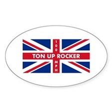 Ton Up Jack Oval Sticker (50 pk)
