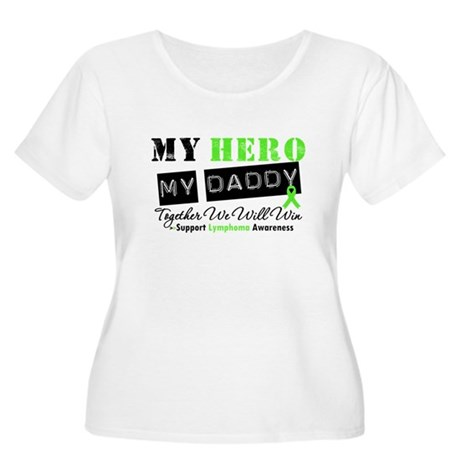 Lymphoma Hero Daddy Women's Plus Size Scoop Neck T