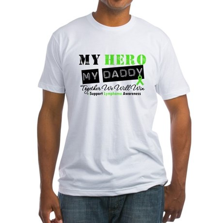 Lymphoma Hero Daddy Fitted T-Shirt