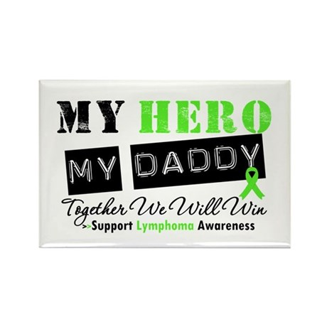 Lymphoma Hero Daddy Rectangle Magnet (100 pack)