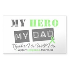Lymphoma Hero Dad Rectangle Sticker 10 pk)