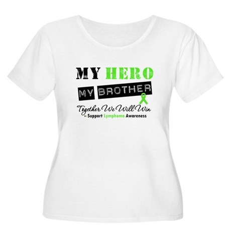 Lymphoma Hero Brother Women's Plus Size Scoop Neck