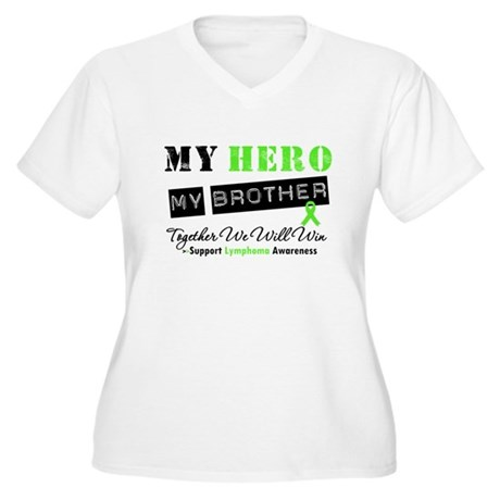 Lymphoma Hero Brother Women's Plus Size V-Neck T-S