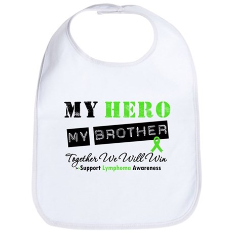 Lymphoma Hero Brother Bib