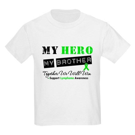 Lymphoma Hero Brother Kids Light T-Shirt